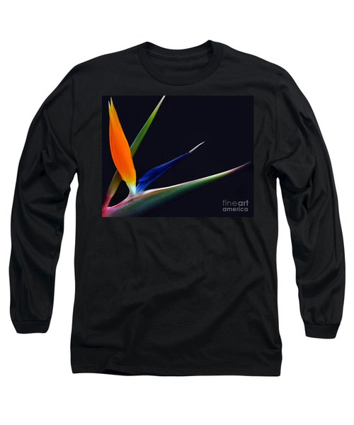 Bright Bird Of Paradise Rectangle Frame Long Sleeve T-Shirt