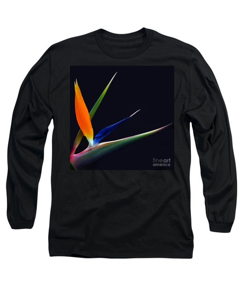 Bright Bird Of Paradise Square Frame Long Sleeve T-Shirt