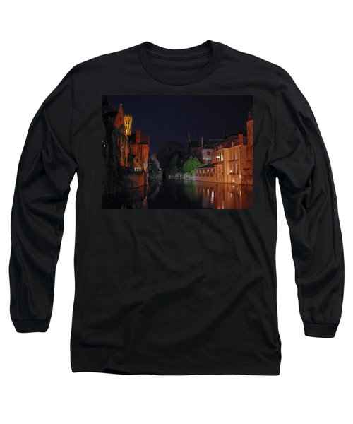 Long Sleeve T-Shirt featuring the photograph Bruges by David Gleeson