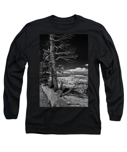 Bryce Canyon - Dead Tree Black And White Long Sleeve T-Shirt