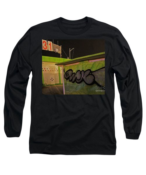 Long Sleeve T-Shirt featuring the photograph Building 31 Rimini Beach Graffiti by Andy Prendy