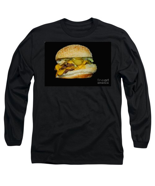 Burgerlicious Long Sleeve T-Shirt by Cindy Manero