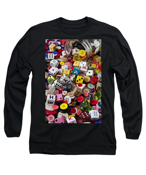 Buttons And Dice Long Sleeve T-Shirt