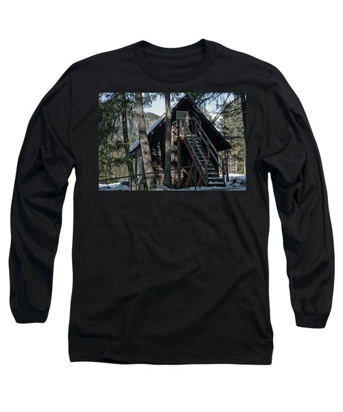 Long Sleeve T-Shirt featuring the photograph Cabin Get Away by Tikvah's Hope