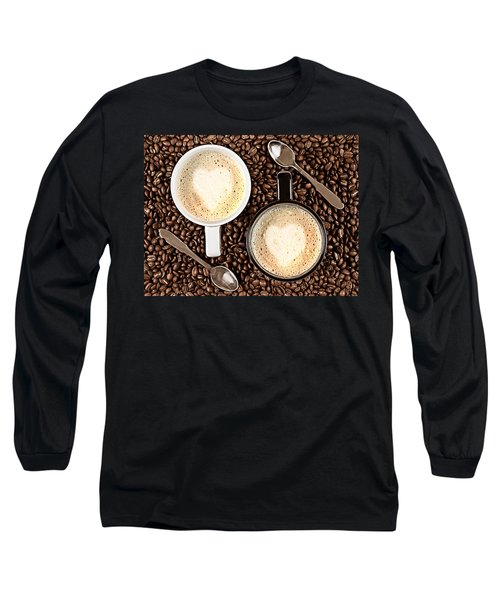 Long Sleeve T-Shirt featuring the photograph Caffe Latte For Two by Gert Lavsen