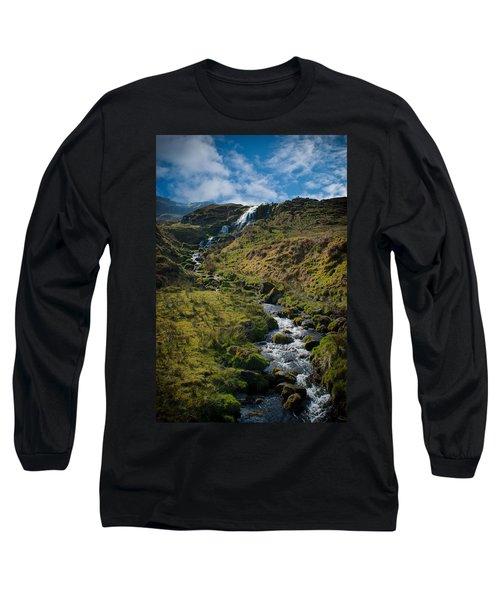 Calmness At The Falls Long Sleeve T-Shirt