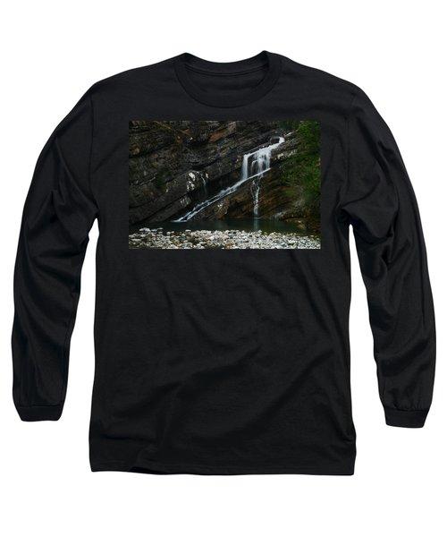 Cameron Falls Waterton Lakes National Park Long Sleeve T-Shirt