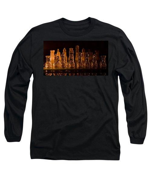 Candle Lit Chess Men Long Sleeve T-Shirt