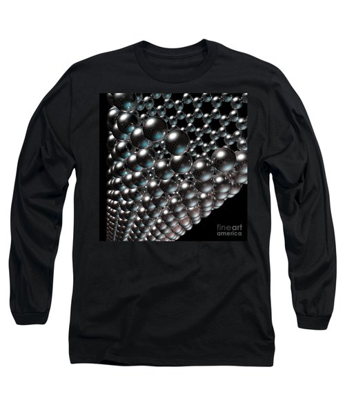 Long Sleeve T-Shirt featuring the digital art Carbon Nanotube 8 by Russell Kightley