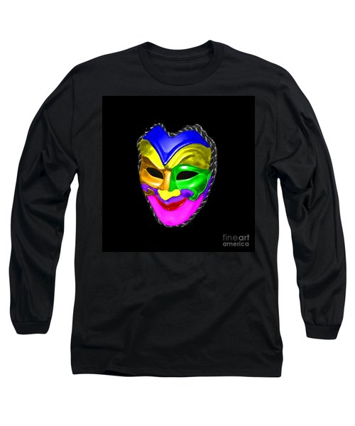 Long Sleeve T-Shirt featuring the photograph Carnival Mask by Blair Stuart