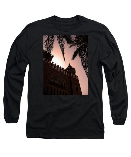 Long Sleeve T-Shirt featuring the photograph Castell Dels Tres Dragons - Barcelona by Juergen Weiss