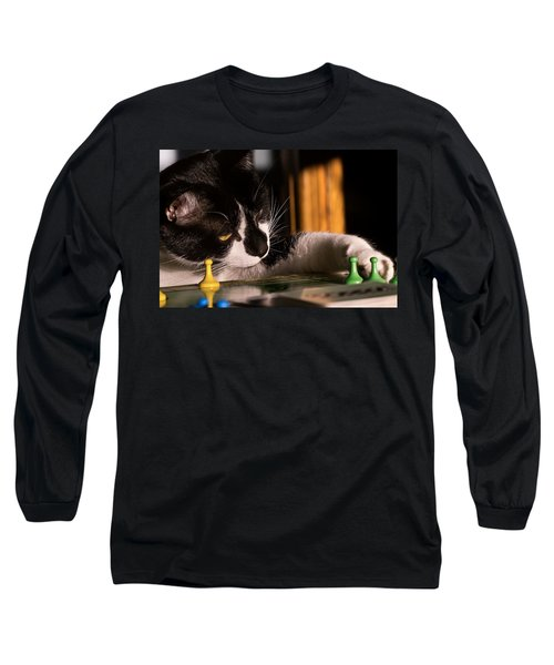 Cat Playing A Game Long Sleeve T-Shirt