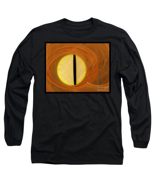 Long Sleeve T-Shirt featuring the digital art Cat's Eye by Victoria Harrington