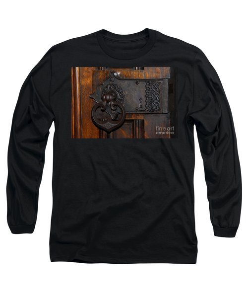 Long Sleeve T-Shirt featuring the photograph Chapel Door by Cindy Manero