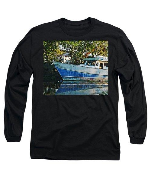 Chauvin La Blue Bayou Boat Long Sleeve T-Shirt