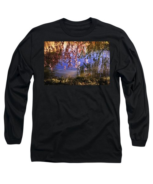 Cherry Blossoms In The Sun - New York City Long Sleeve T-Shirt