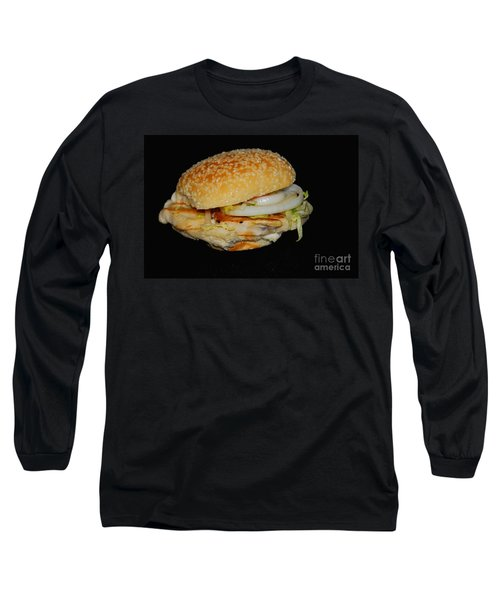 Chicken Sandwich Long Sleeve T-Shirt by Cindy Manero