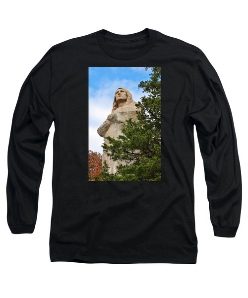 Long Sleeve T-Shirt featuring the photograph Chief Blackhawk Statue by Bruce Bley