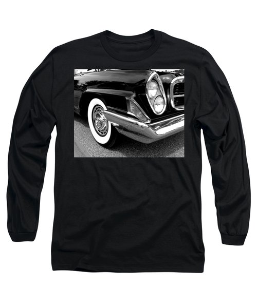 Chrysler 300 Headlight In Black And White Long Sleeve T-Shirt