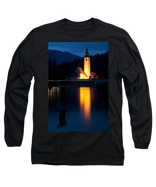 Church At Dusk Long Sleeve T-Shirt