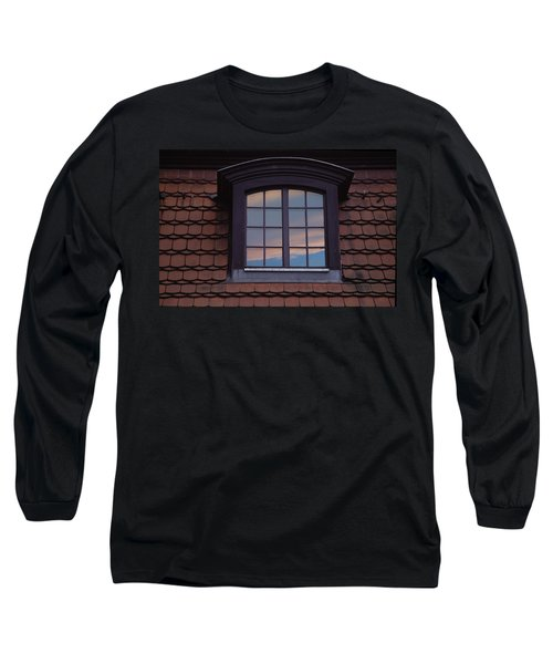 Long Sleeve T-Shirt featuring the photograph Cloud Reflections by Brent L Ander