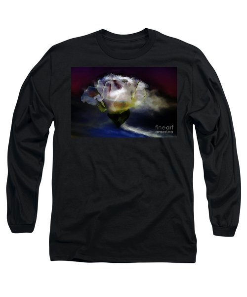 Cloud Rose Painterly Long Sleeve T-Shirt by Clayton Bruster
