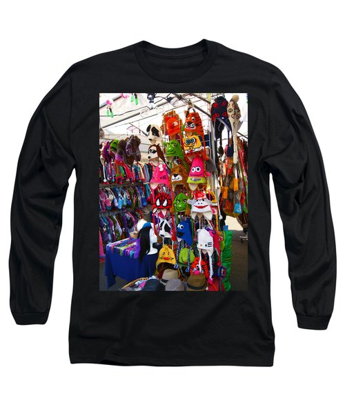 Long Sleeve T-Shirt featuring the photograph Colorful Character Hats by Kym Backland