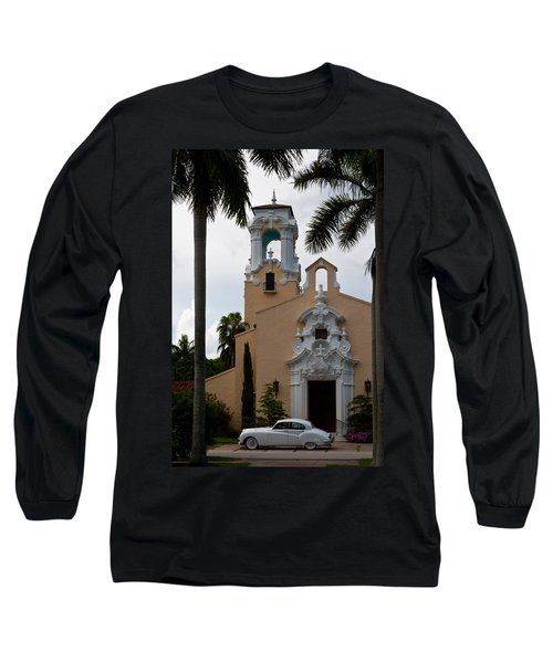 Long Sleeve T-Shirt featuring the photograph Congregational Church Front Door by Ed Gleichman