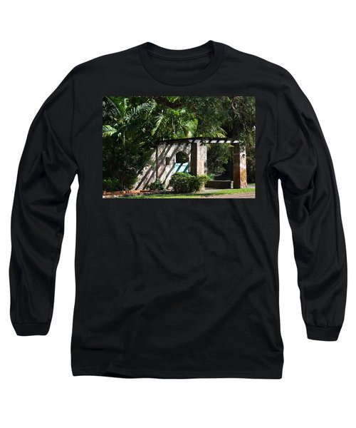 Long Sleeve T-Shirt featuring the photograph Coral Gables Gate by Ed Gleichman
