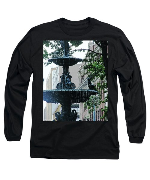Long Sleeve T-Shirt featuring the photograph Court Square Memphis by Lizi Beard-Ward