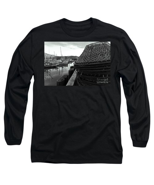 Crab Traps Long Sleeve T-Shirt by Darcy Michaelchuk
