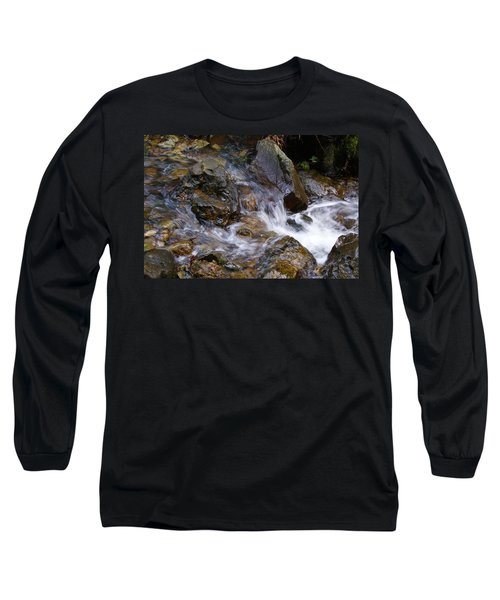 Creek Scene On Mt Tamalpais Long Sleeve T-Shirt