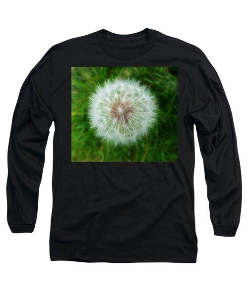 Long Sleeve T-Shirt featuring the photograph Dandelion Seed Head by Lynn Bolt