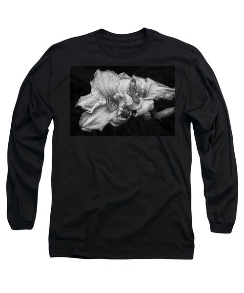 Day Lilies Long Sleeve T-Shirt by Eunice Gibb