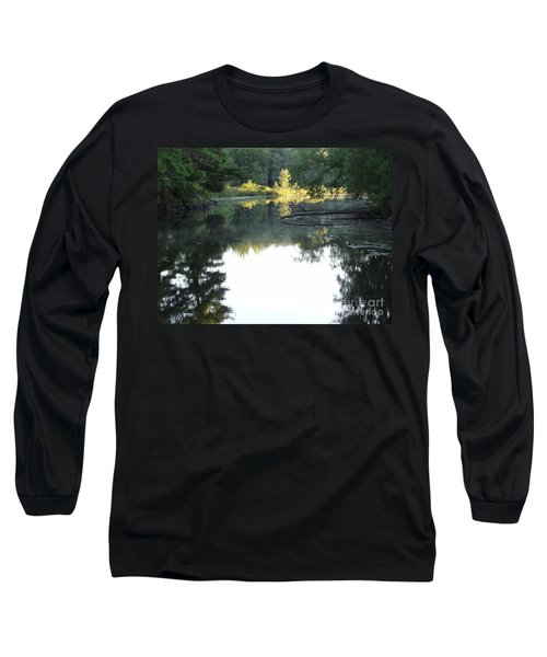 Deer River In Early Sun Long Sleeve T-Shirt
