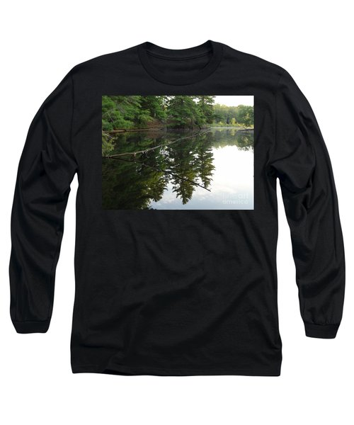 Deer River Reflection Long Sleeve T-Shirt