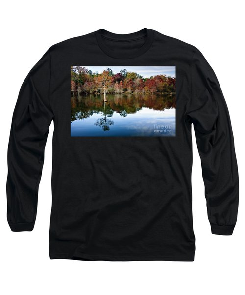 Long Sleeve T-Shirt featuring the photograph Beaver's Bend Defiant Cypress by Tamyra Ayles