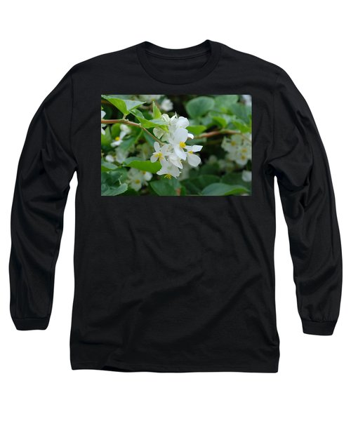 Long Sleeve T-Shirt featuring the photograph Delicate White Flower by Jennifer Ancker