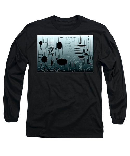 Digital Dimension In Aquamarine Series Image 1 Long Sleeve T-Shirt