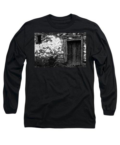 Door  Window And The Wall  Long Sleeve T-Shirt