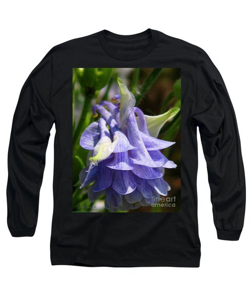 Double Columbine Named Light Blue Long Sleeve T-Shirt by J McCombie