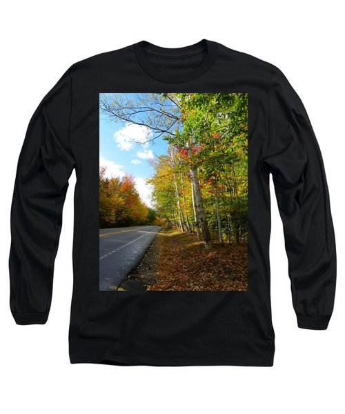 Driving Though The Birches Long Sleeve T-Shirt