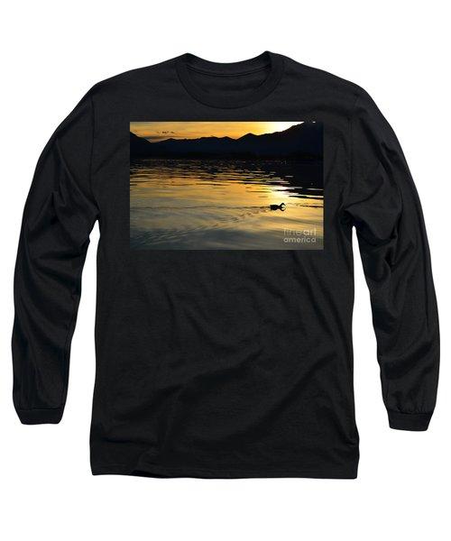 Duck Swimming Long Sleeve T-Shirt