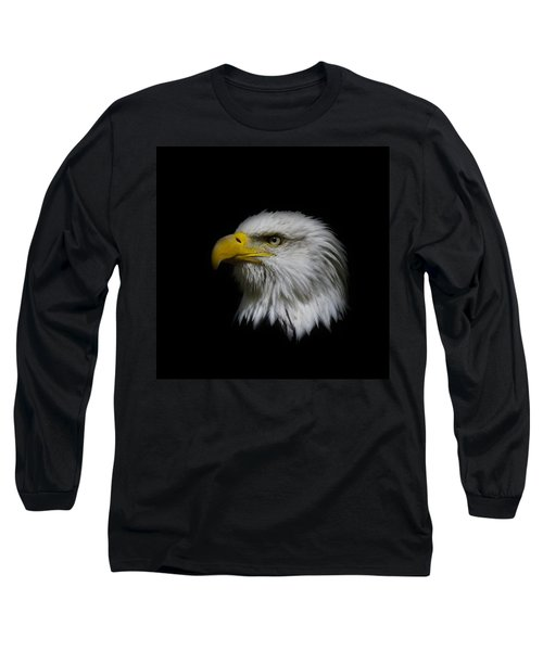 Long Sleeve T-Shirt featuring the photograph Eagle Head by Steve McKinzie