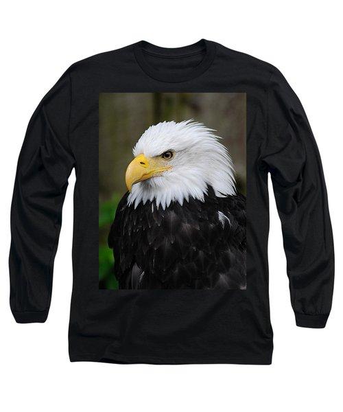 Eagle In Ketchikan Alaska 1371 Long Sleeve T-Shirt by Michael Bessler