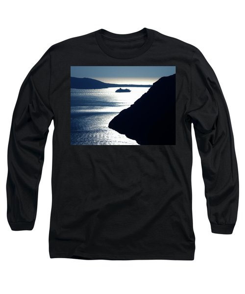 Long Sleeve T-Shirt featuring the photograph Early Night Santorini Island Greece by Colette V Hera  Guggenheim