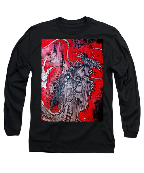 Earth Spirit Long Sleeve T-Shirt by Sandro Ramani