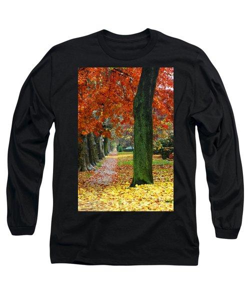 East 19 Street Brooklyn New York Long Sleeve T-Shirt by Mark Gilman