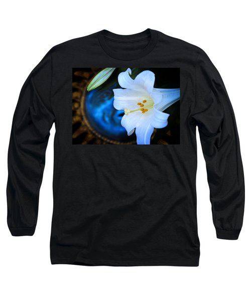 Long Sleeve T-Shirt featuring the photograph Eclipse With A Lily by Steven Sparks