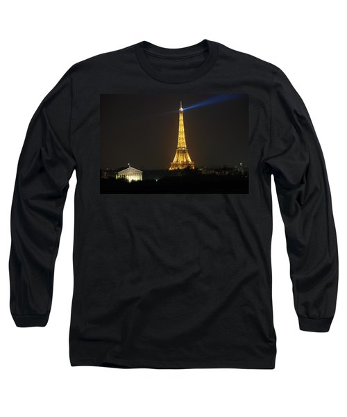 Eiffel Tower At Night Long Sleeve T-Shirt